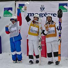 FIS Moguls World Cup 2015 Finals - Megève - 20150315 - Alexandr Smyshlyaev, Mikael Kingsbury et Philippe Marquis.jpg