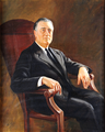 32nd President of the United States Franklin D. Roosevelt (AB, 1903)