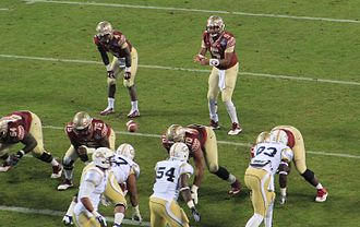 College athletics in the United States - The Florida State Seminoles vs Georgia Tech Yellow Jackets during the 2014 ACC Championship Game