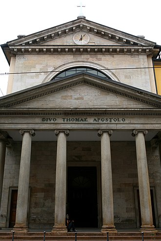 San Tomaso in Terramara - San Tomaso in Terramara, Milan. Facade completed in 1827.
