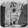 Fachada del monasterio de San Pablo del Campo, en Barcelona, de Ruiz.jpg