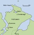 Fahan Inishowen Map.png