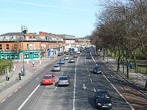Fairview, Dublin - Fairview pictured from the pedestrian bridge, with the park located to the right