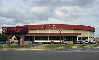 Fant–Ewing Coliseum - Exterior view, November 2011