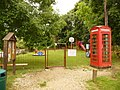 Farnham, phone box and playground - geograph.org.uk - 1405769.jpg