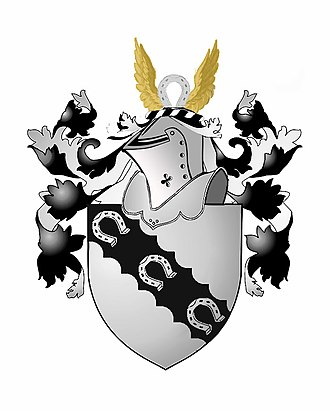 Farrar (surname) - Coat of arms and crest for William Farrar's father, John Farrar of Croxton and London, esquire.