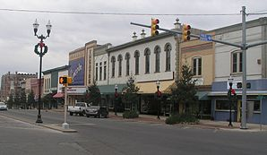 Town square in Fayetteville