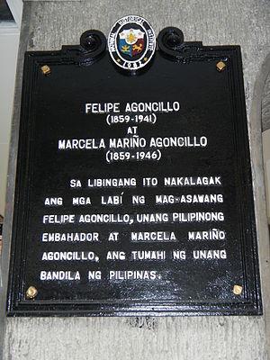 Felipe Agoncillo - Historical marker in the Cemetery