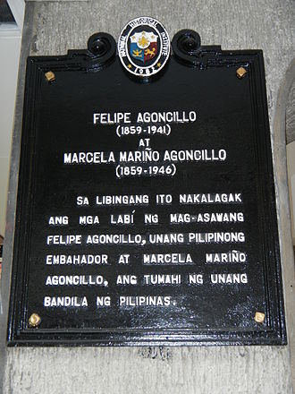 Marcela Agoncillo - Historical marker in the Cemetery
