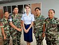 Female F-FDTL personnel with a USAF English instuctor.jpg