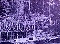 Ferrovia della Val Gardena - Utilizzo del legname durante la costruzione della ferrovia.jpg