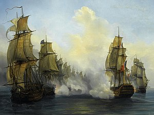 French ship Wagram (1810) - Image: Fight of Wagram Auguste Meyer