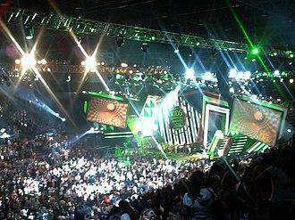 2010 Kids' Choice Awards - The final slime at the 2010 Kids' Choice Awards