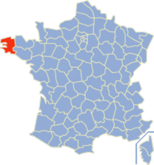 Communes of the Finistère department - Image: Finistère Position