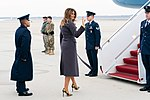 First Lady Melania Trump Departs Joint Base Andrews (47237023812).jpg