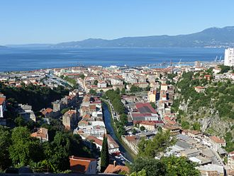 Trsat - Rijeka as seen from Trsat Castle