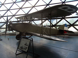 Zmaj aircraft - Fizir FN Trainer (1930) on display in the Museum of Aviation