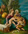 Flämisch 16Jh Heilige Familie in einer Landschaft.jpg