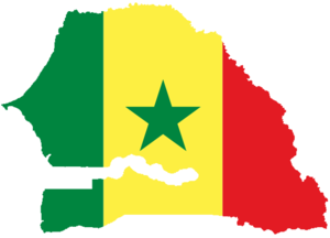 Flag-map of Senegal