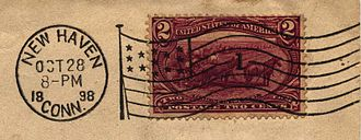 Trans-Mississippi Issue - Flag cancel used on a 2¢ Trans-Miss