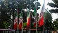 Flag of Iran in the Nishapur Railway Station square 05.JPG