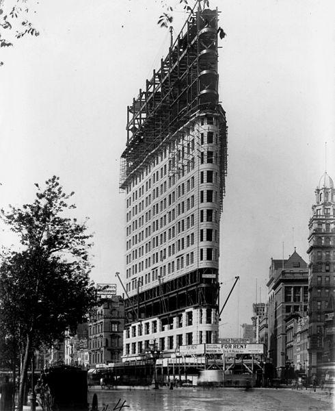 Flat Nyc: File:Flatiron Building Under Construction II, New York