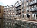Flats by canal basin at Brentford - geograph.org.uk - 816982.jpg