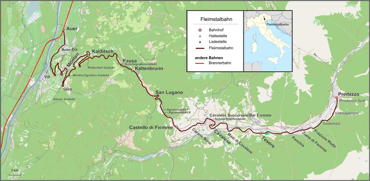 Ferrovia Della Val Di Fiemme Wikipedia