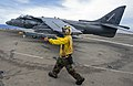 Flickr - Official U.S. Navy Imagery - Sailor directs jet on flight deck..jpg