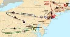 Flight paths of hijacked planes-September 11 attacks2