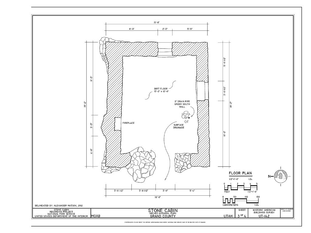 File:Floor Plan - Stone Cabin, Moab, Grand County, UT HABS ...