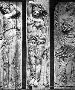 Fontaine des Innocents reliefs. Louvre, Paris