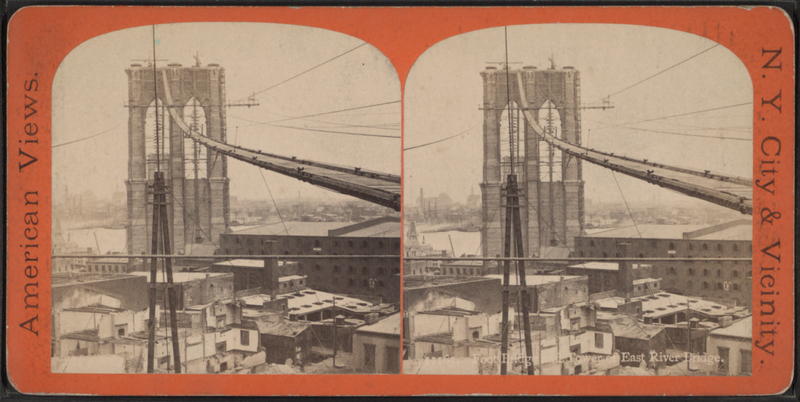 File:Foot bridge and tower of East River bridge, from Robert N. Dennis collection of stereoscopic views.png