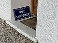 Footing de confinement en avril 2020 - plaque de la rue lyonnaise Saint-Simon - chemin Vert à Beynost.jpg