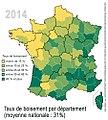 Forêt Taux boisement par dpt 2014.jpg