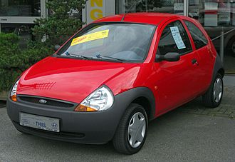 New Edge - A first-generation Ford Ka, one of the most popular vehicles produced in Ford's New Edge style.