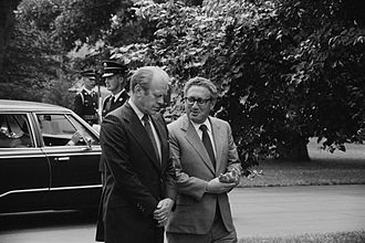 Henry Kissinger - Ford and Kissinger conversing on grounds of the White House, August 1974
