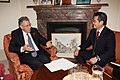 Foreign Office Minister Lord Howell meeting Minister Ichimura, Japanese Parliamentary Secretary for Land, Infrastructure and Transport in London, 2 November 2010. (5139630672).jpg
