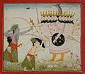 Forest dwelling Rama and Lakshmi battle Ravana..jpg
