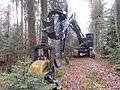 Forest harvester Kern HE95, Bavaria, December 2019 01.jpg