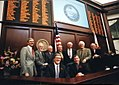 Former House Speakers assembled with Florida House Speaker Tom Feeney for a group portrait in Tallahassee, Florida.jpg