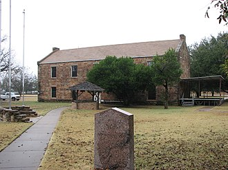 Fort Belknap (Texas) - Colonel William C. Young Texas Historical Marker at Fort Belknap: The gift shop/museum is in the background.