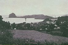 Fort Duvernette and Young's Island from Calliaqua, St. Vincent 1890s.jpg