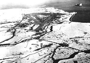 Cape Air Force Base - Cape Field, later Fort Glenn AAB, was secretly built at Otter Point on Umnak Island in 1942