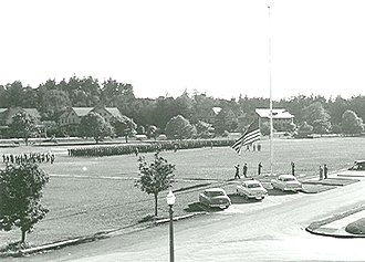 Fort Worden - 369th Engineer Boat and Shore Regiment retreat parade, May 1951