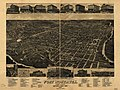 """Fort Worth, Tex., """"The Queen of the Prairies,"""" county seat of Tarrant County 1886. LOC 75696591.jpg"""