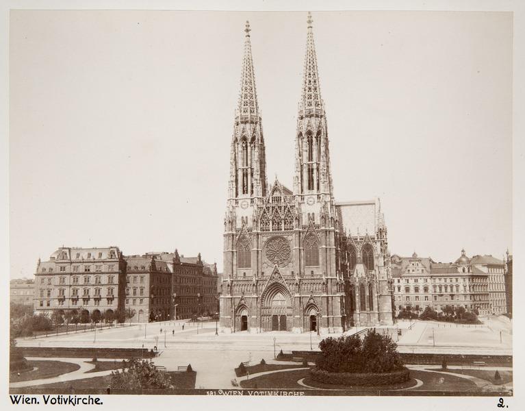 Fotografi av Votivkirche i Wien, Österrike - Hallwylska museet - 103106