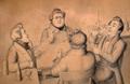 Fröhliche Runde in Langenberg, mit G. A. Köttgen, Julius F. Köttgen (vorne) und anderen.png