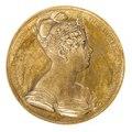 Framsida av medalj med Desideria av Sverige-Norge i profil, 1823 - Skoklosters slott - 99258.tif