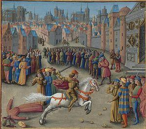John Doukas (sebastokrator) - Image: Français 5594, fol. 193v haut, Mort d'Étienne Hagiochristophoritès